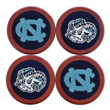 UNC Needlepoint Coasters