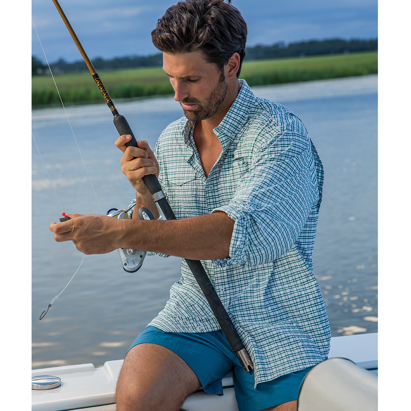 Islamorada Fishing Shirt - Green Check - OnwardReserve