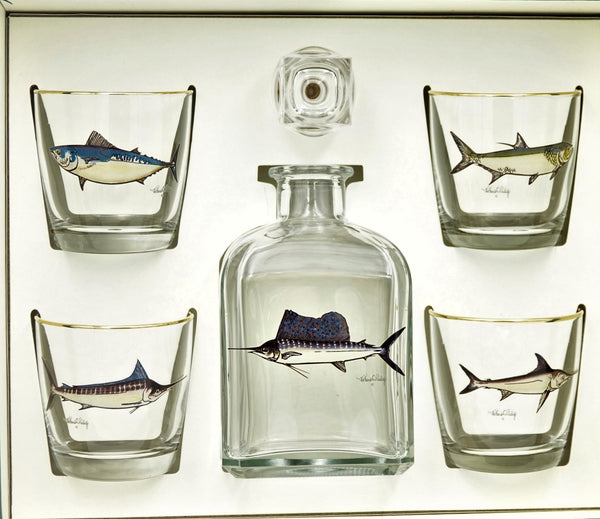 Game Fish Decanter Set