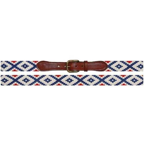 Gaucho Rojo Needlepoint Belt - OnwardReserve