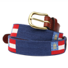 Georgia State Flag Needlepoint Belt - OnwardReserve