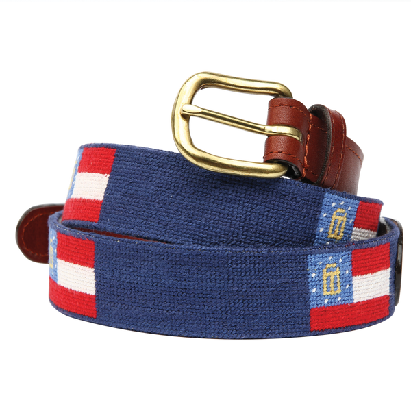 Georgia State Flag Needlepoint Belt - Onward Reserve