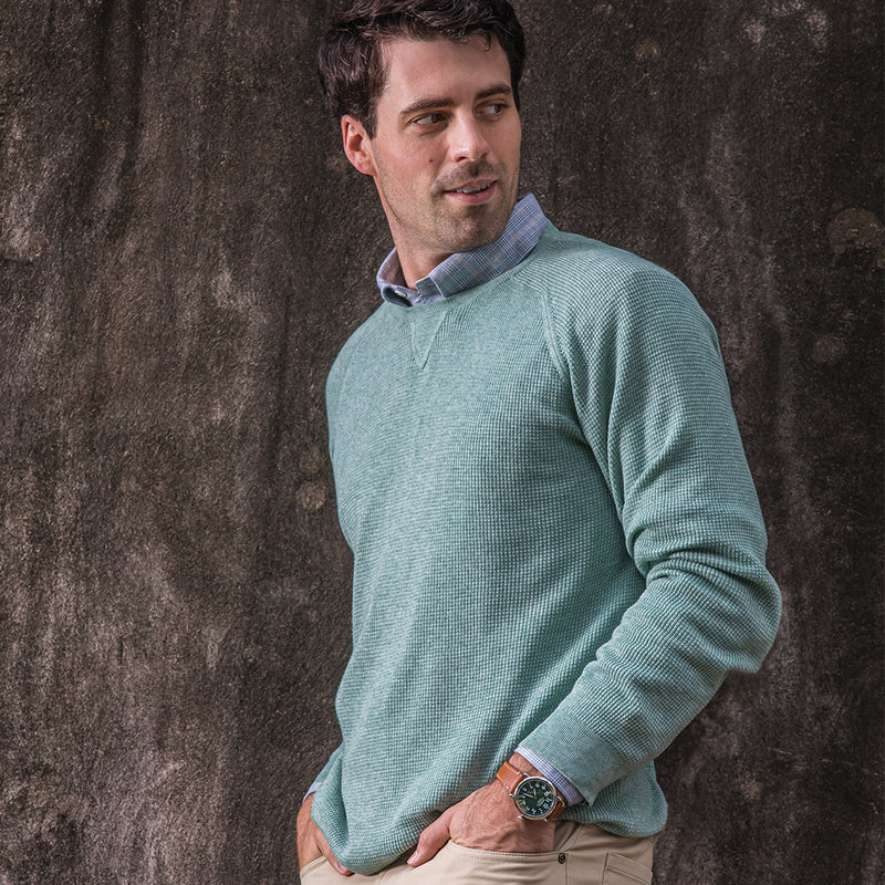 Reserve Cashmere Waffle Knit Crew Neck