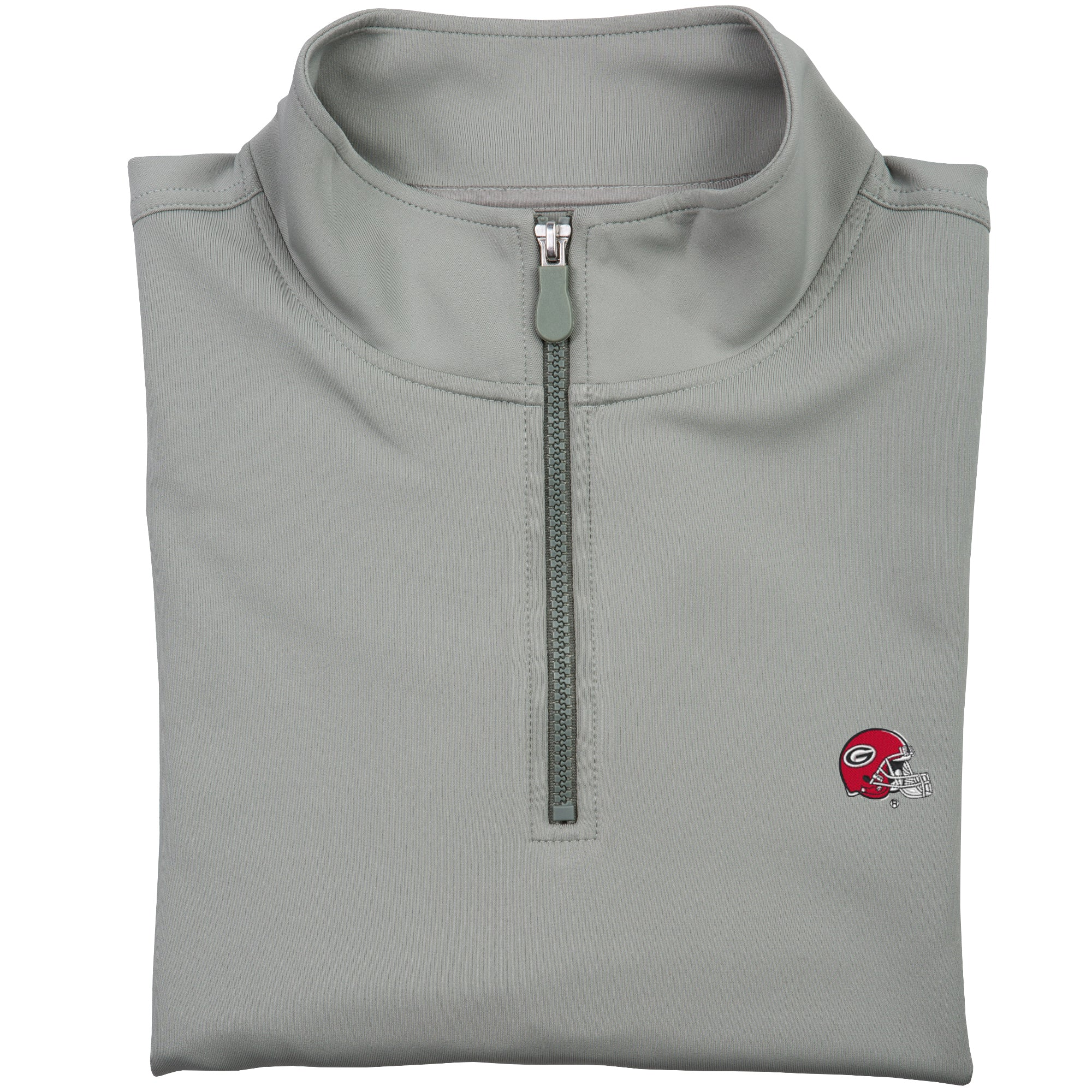 UGA Helmet Performance 1/4 Zip in Grey - OnwardReserve