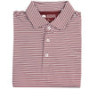Pro Stripe Performance Polo - Maroon/White - OnwardReserve