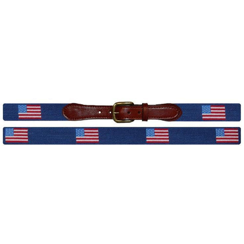 American Flag Needlepoint Belt - Onward Reserve