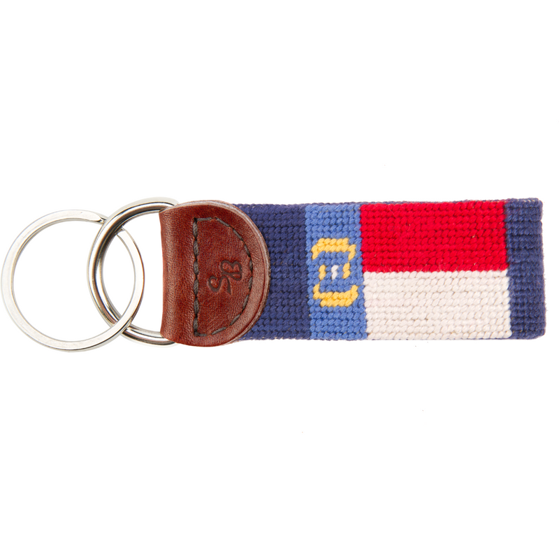 North Carolina Needlepoint Key Fob