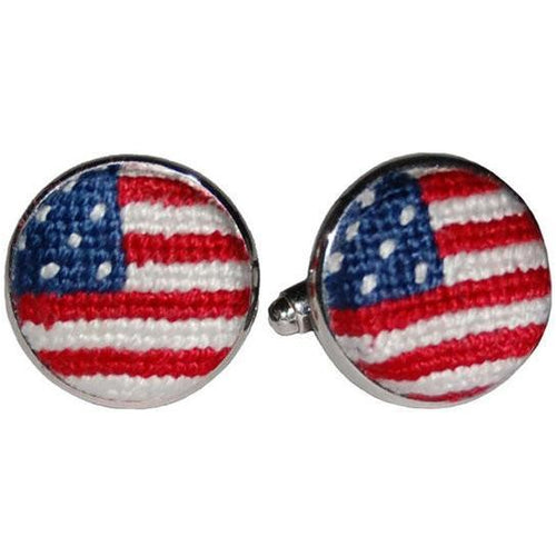 Old Glory Needlepoint Cufflinks