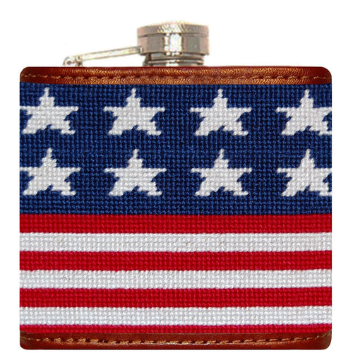 Old Glory Needlepoint Flask - Onward Reserve