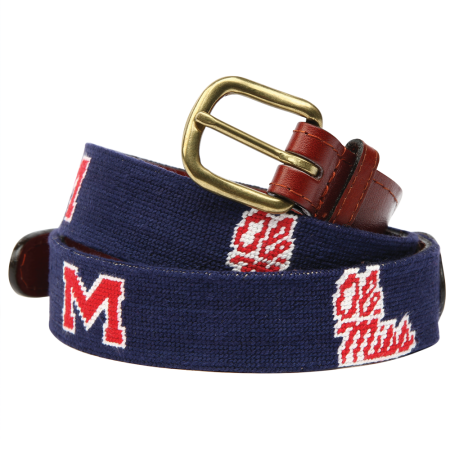 Ole Miss Needlepoint Belt - OnwardReserve