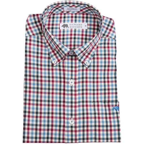 George Performance Button Down - Beet/Blue Heaven - OnwardReserve