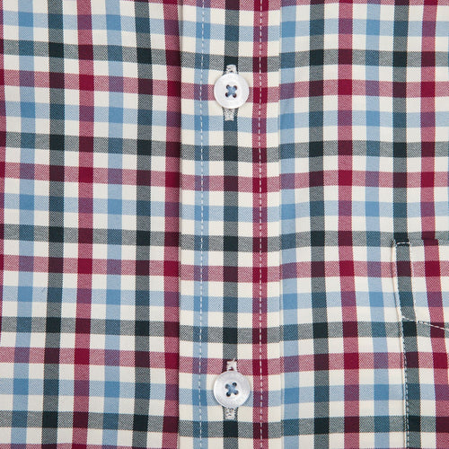 George Performance Button Down - Beet/Blue Heaven