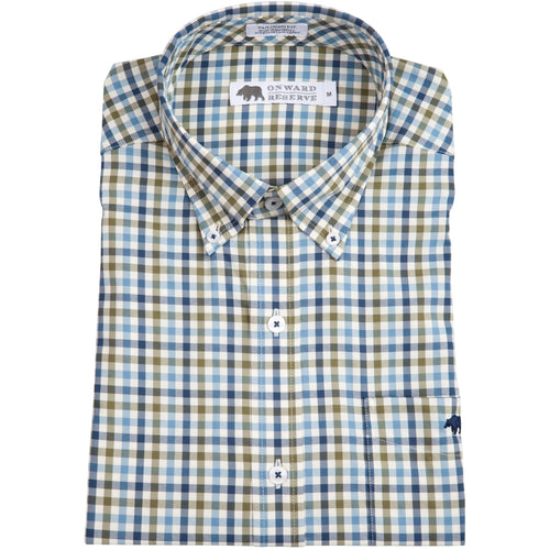 George Performance Button Down - Olive/Navy - OnwardReserve