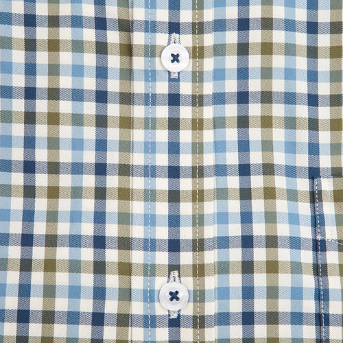 George Performance Button Down - Olive/Navy