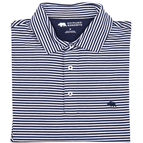 Club Stripe Performance Button Down - Navy/White