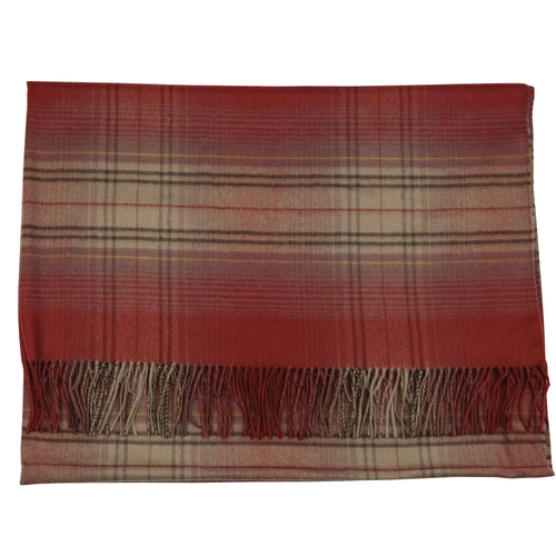 Autumn Check Cashmere Blanket - OnwardReserve