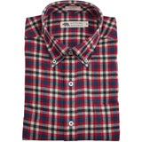 Jasper Flannel - Chili/Navy Plaid