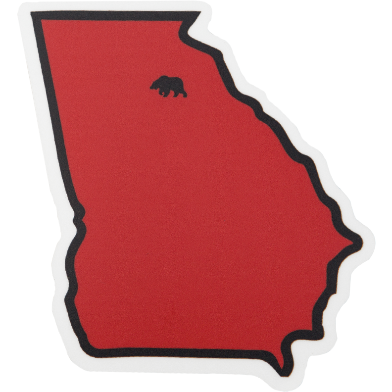 Red & Black GA Gameday Decal - OnwardReserve
