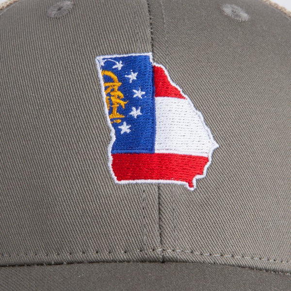 Georgia State Flag Trucker Hat - OnwardReserve