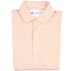 Birdie Stripe Performance Polo - White/Orange - OnwardReserve