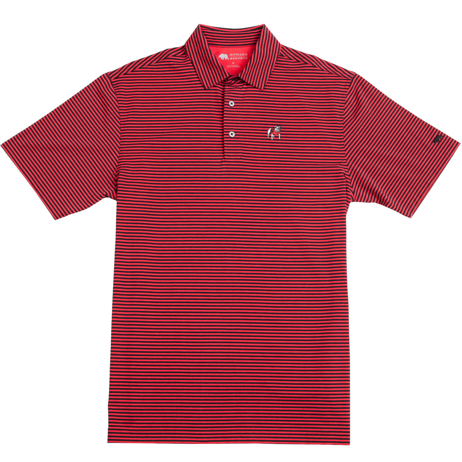 Club Stripe Standing Bulldog Polo - OnwardReserve