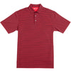 Pro Stripe Performance Polo - Black/Red - OnwardReserve