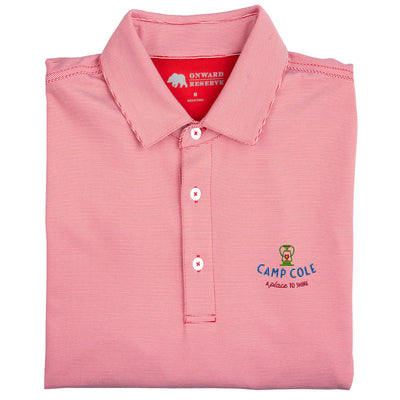Camp Cole Hairline Stripe Performance Polo
