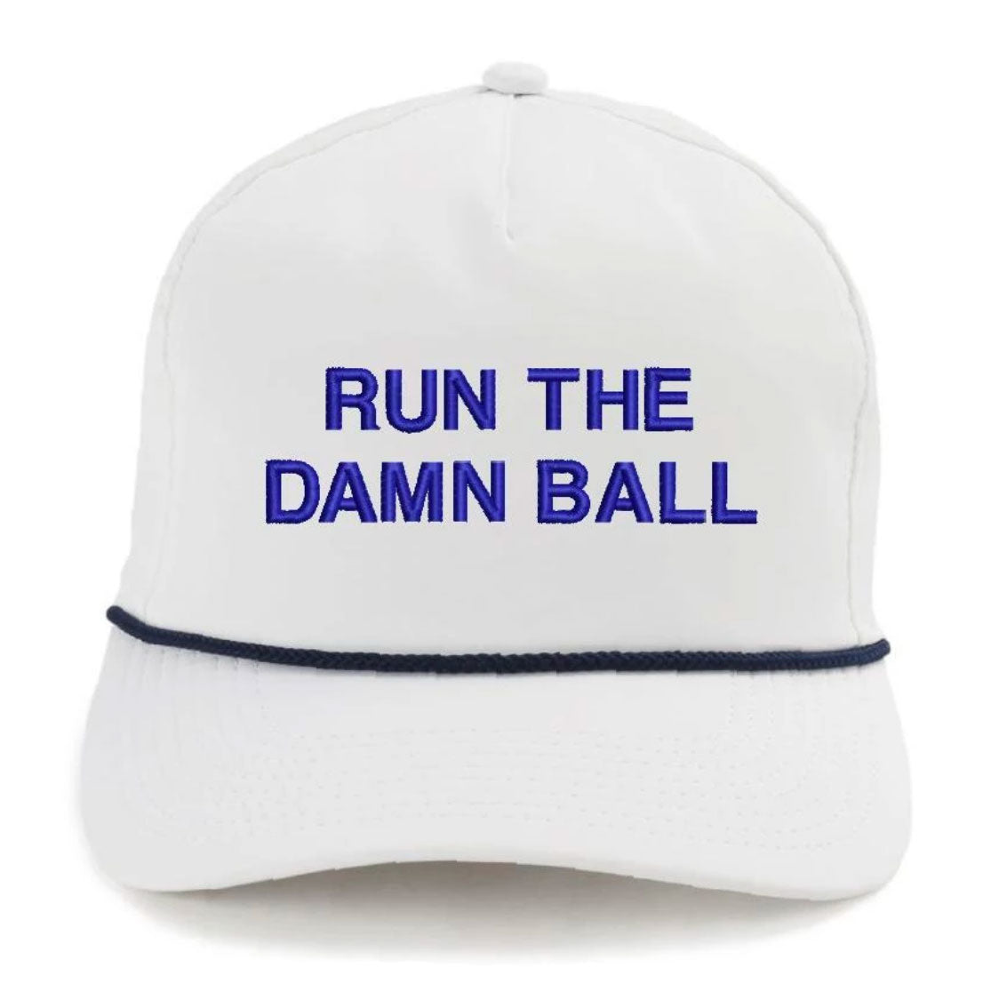 Dark Blue/Navy Run The Damn Ball Rope Hat - OnwardReserve