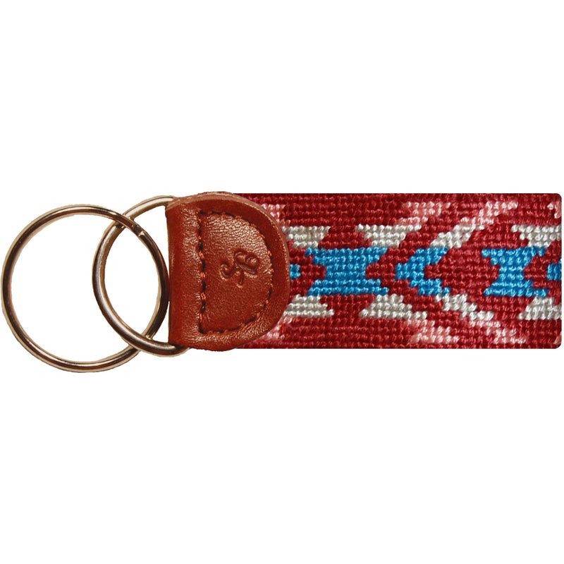 Santa Fe Needlepoint Key Fob