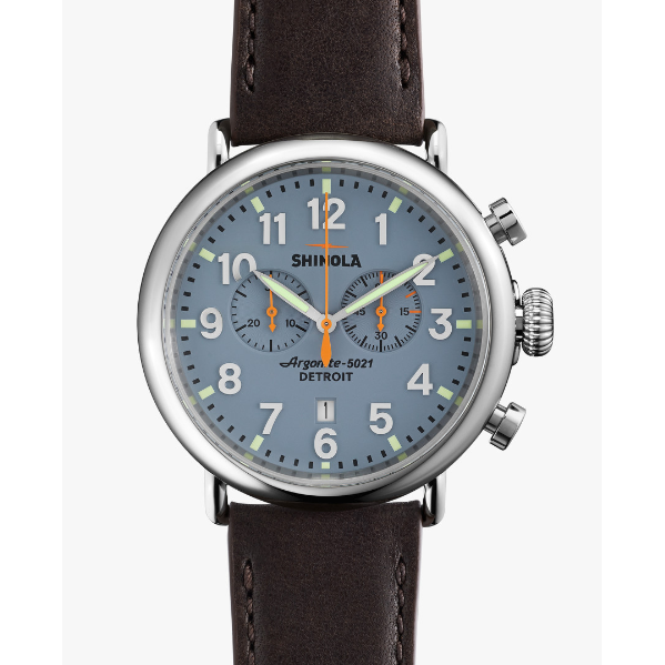 Runwell Slate Blue Chrono 47MM - Onward Reserve