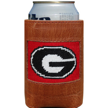 UGA Needlepoint Can Cooler - OnwardReserve