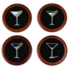Martini Needlepoint Coasters
