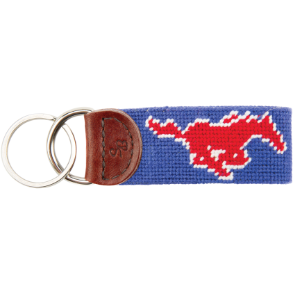 SMU Needlepoint Key Fob - OnwardReserve