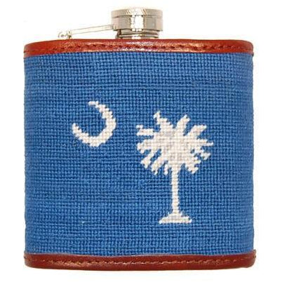South Carolina State Flag Needlepoint Flask - Onward Reserve