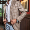 Loro Piana Tan Plaid Summertime Sport Coat