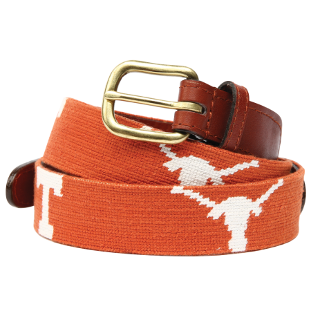 University of Texas Needlepoint Belt