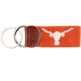 Texas Needlepoint Key Fob