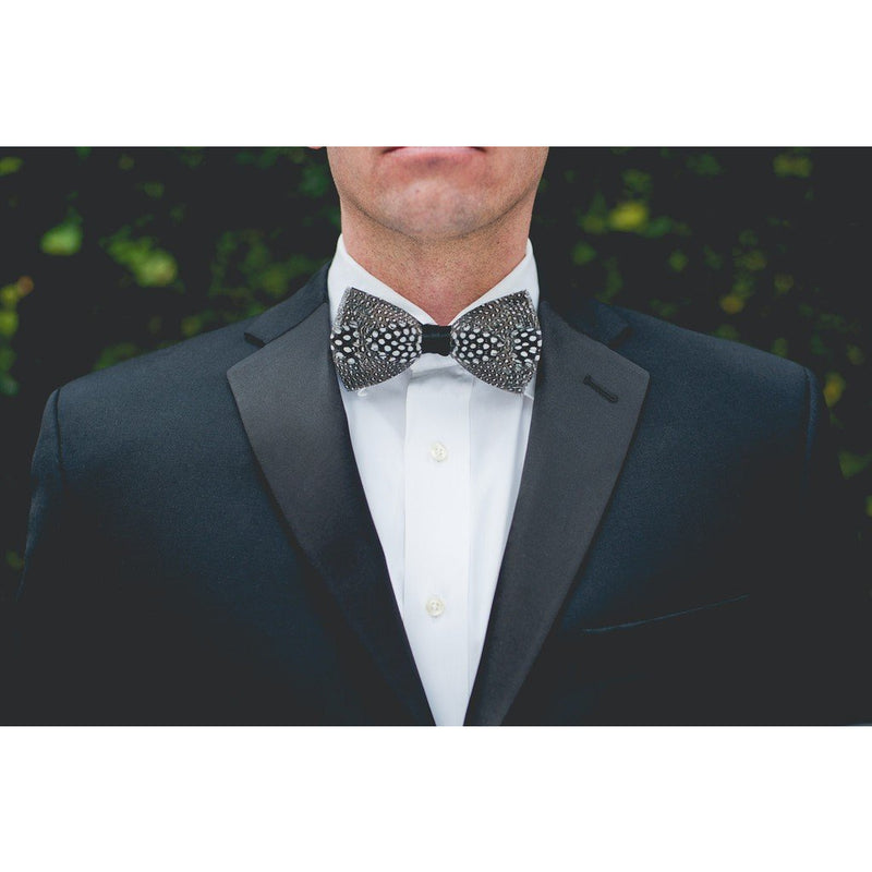 The Guinea Feather Bow Tie - OnwardReserve