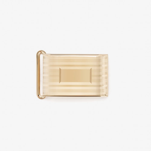 Etched 24K Gold/Brass 1 Inch Buckle