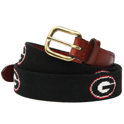 UGA Needlepoint Belt - OnwardReserve