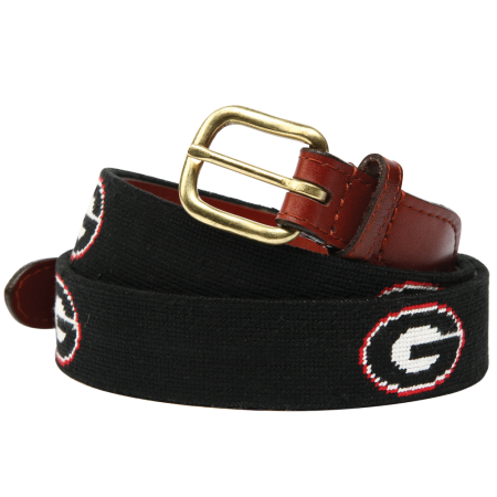 UGA Needlepoint Belt - Onward Reserve
