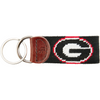 UGA Needlepoint Key Fob - Black