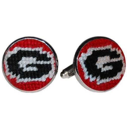 UGA Needlepoint Cufflinks - OnwardReserve