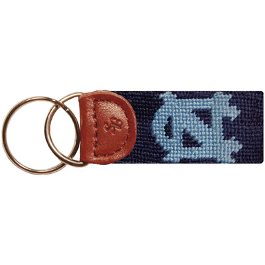 UNC Needlepoint Key Fob