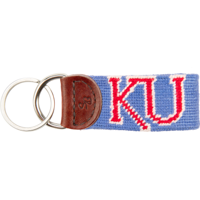 KU Needlepoint Key Fob