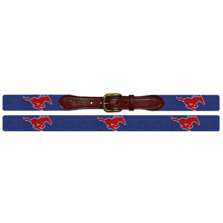 SMU Needlepoint Belt - Onward Reserve