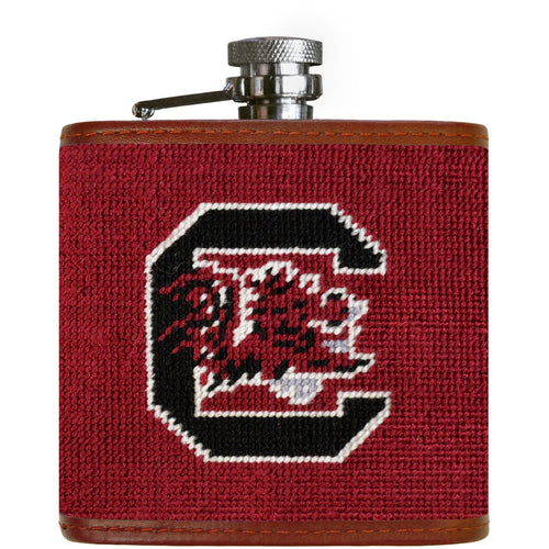 USC Needlepoint Flask