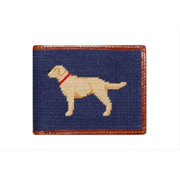 Yellow Lab Needlepoint Wallet