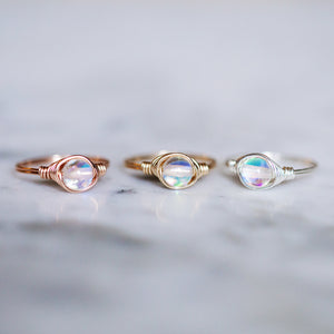 White Mystic Aura Ring