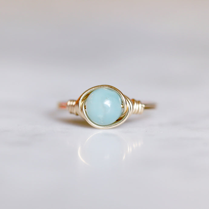 Amazonite Ring - Gemstone Ring
